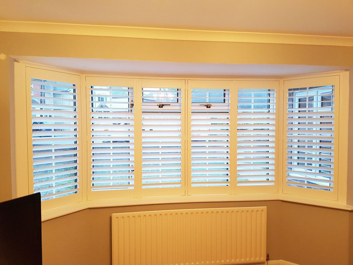 Plantation Shutters For Living Room Window And French