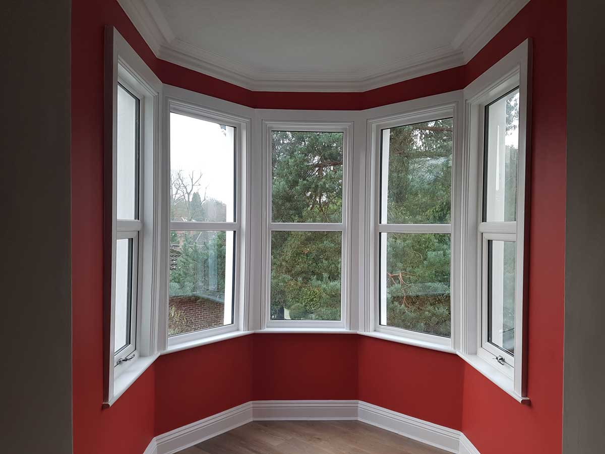 Cafe Style Shutters For Turret Bay Windows In Victorian