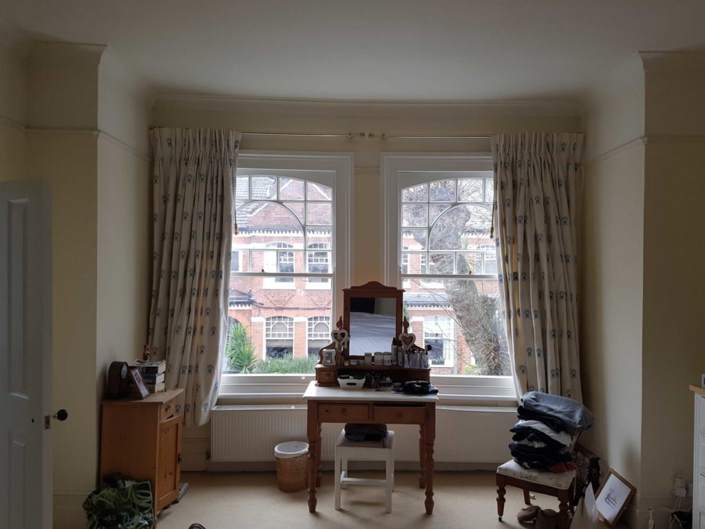 Cafe Style Shutters For Large Traditional Sash Windows Of