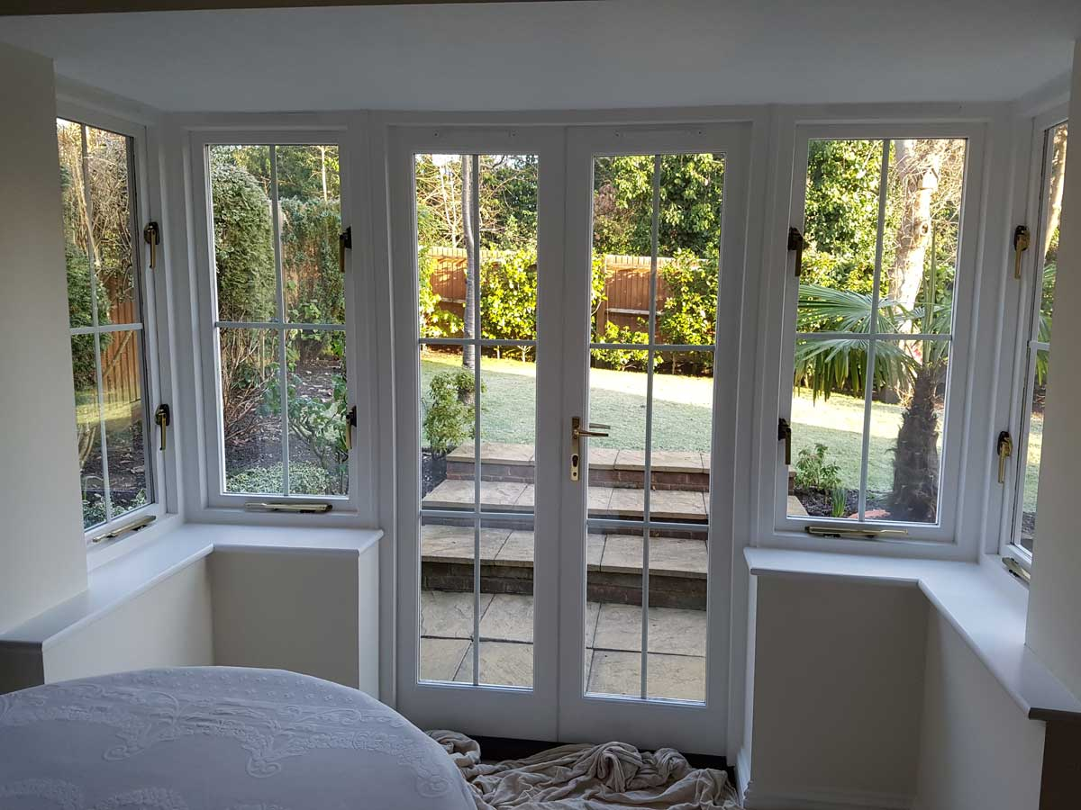 French Doors Before Shutters