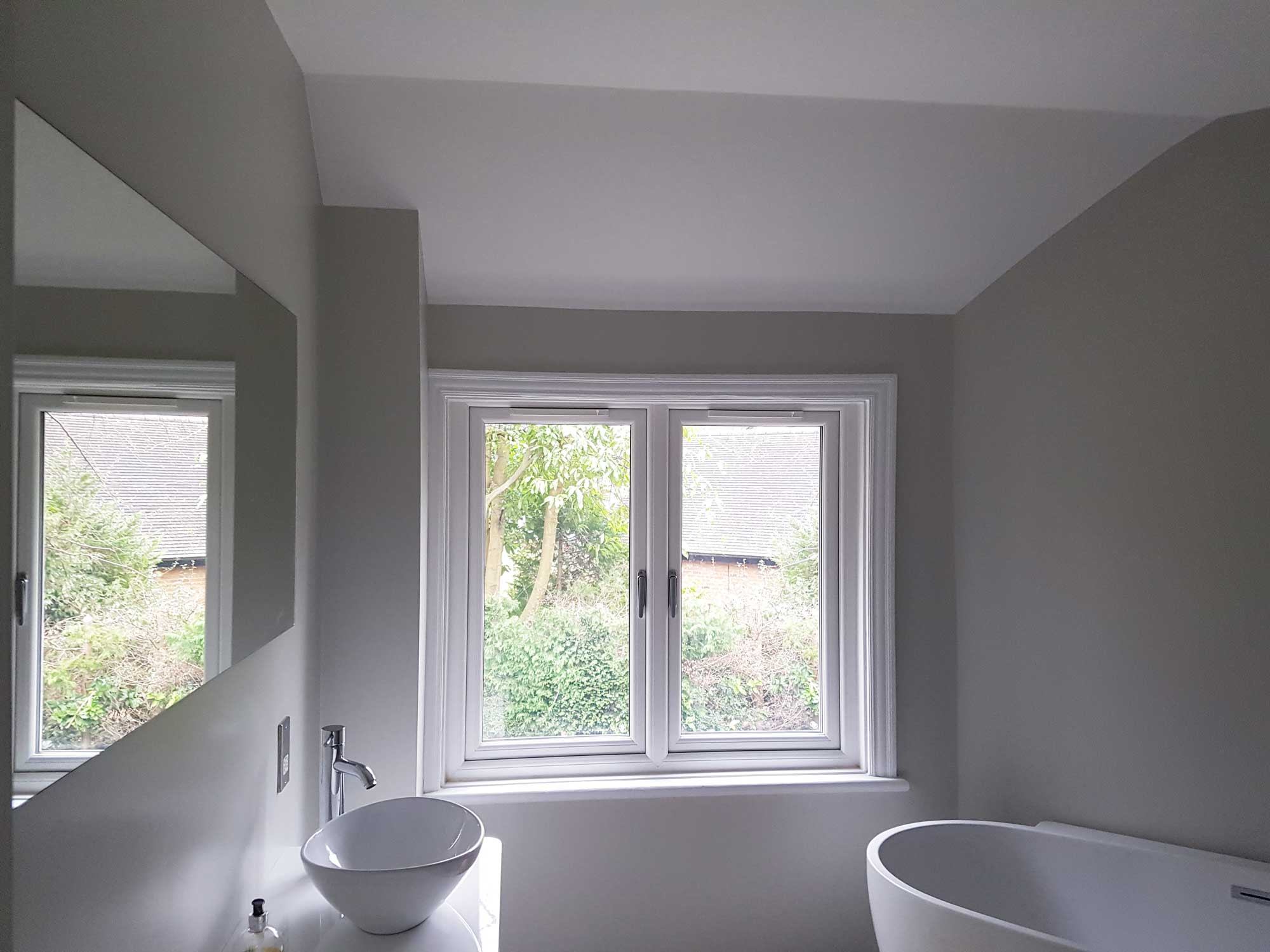 Bathroom Shutters For Window Of Detached House In South